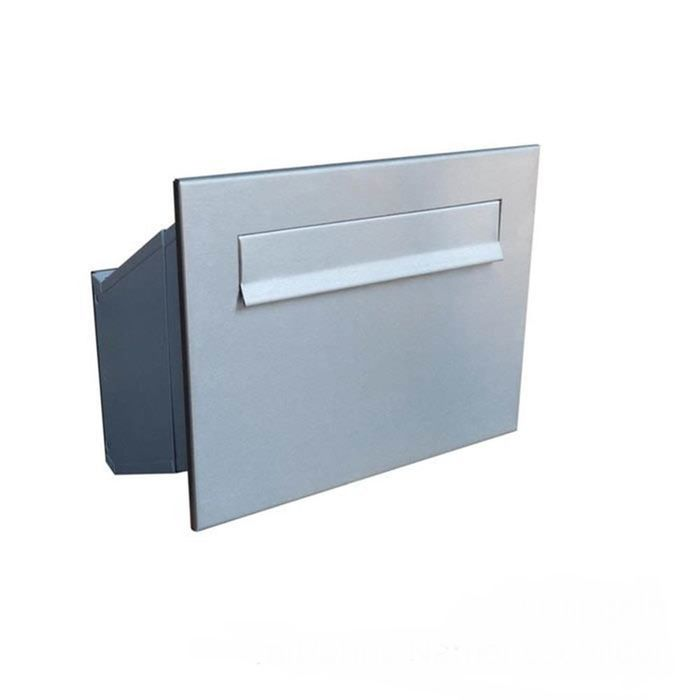 D-241 XXL Stainless Steel Through Wall Letterbox (Variable Depth)
