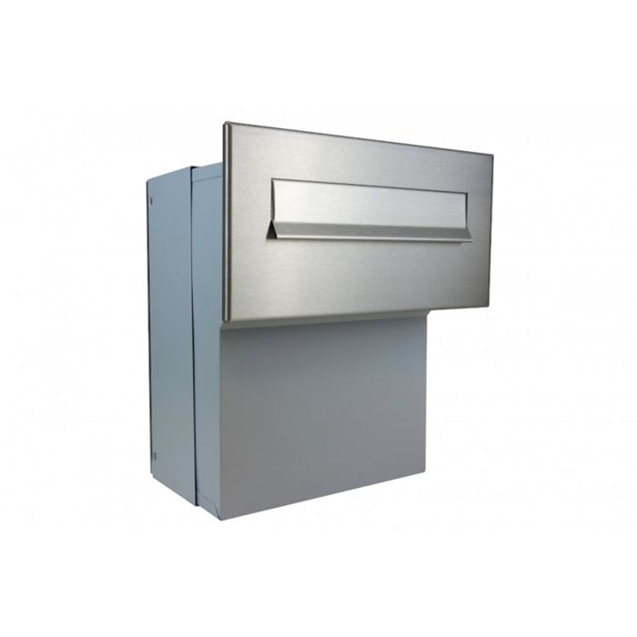 F-046 Stainless Steel through the wall Letterbox (Variable Depth)