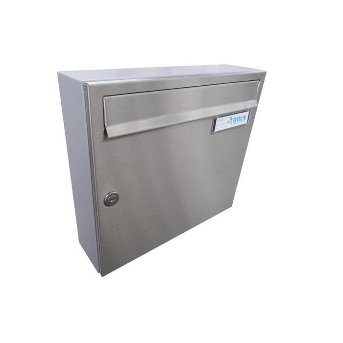 A-01 Stainless steel/RAL 7040 Surface-mounted wall letterbox