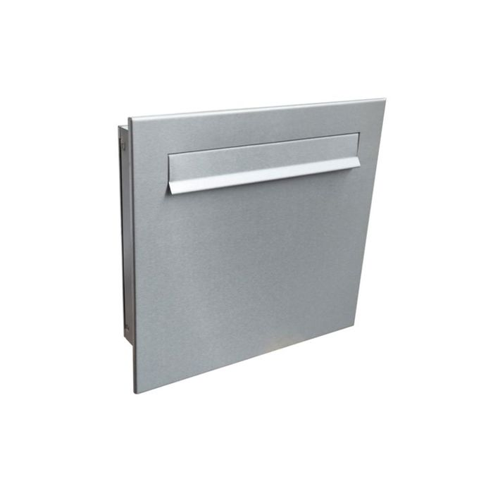 A-04 Stainless steel design pass-through letterbox without nameplate