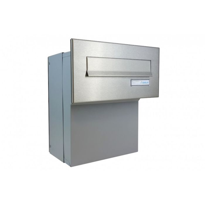 F-046 Stainless Steel through wall Letterbox (Variable Depth)