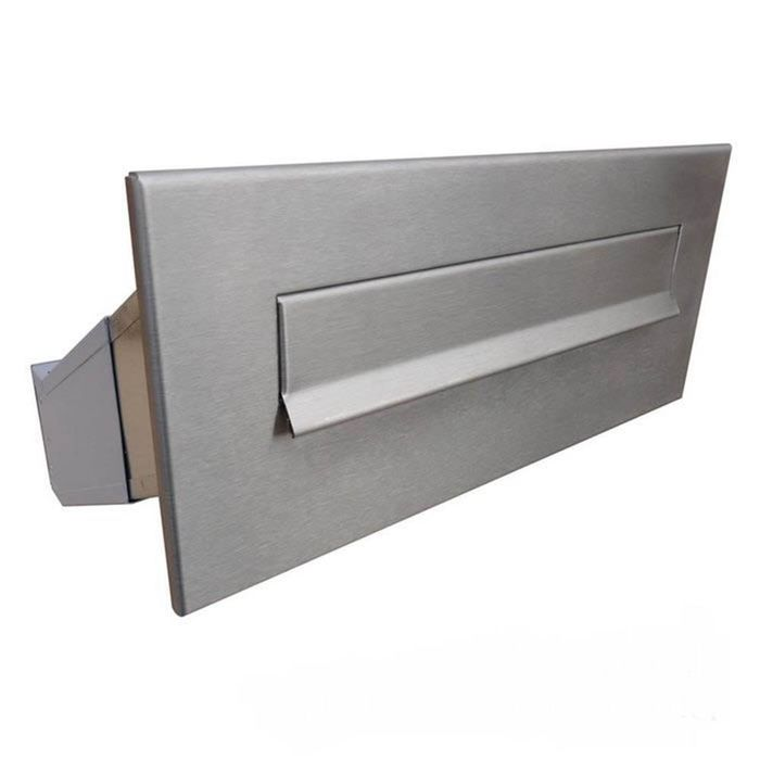 D-042 Stainless Steel Through Wall Letterbox (variable depth)