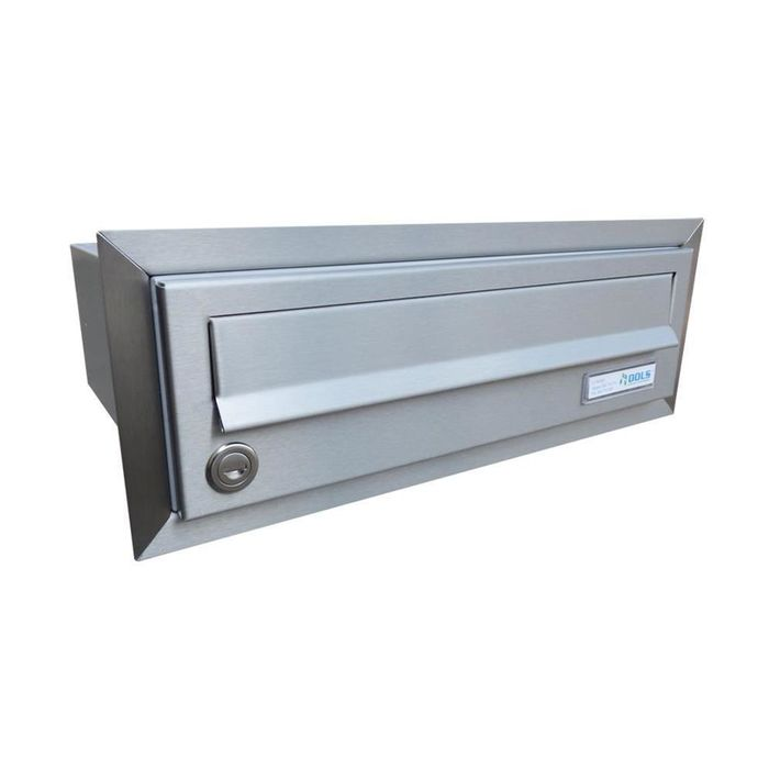 B-017 Stainless steel flush-mounted letterbox