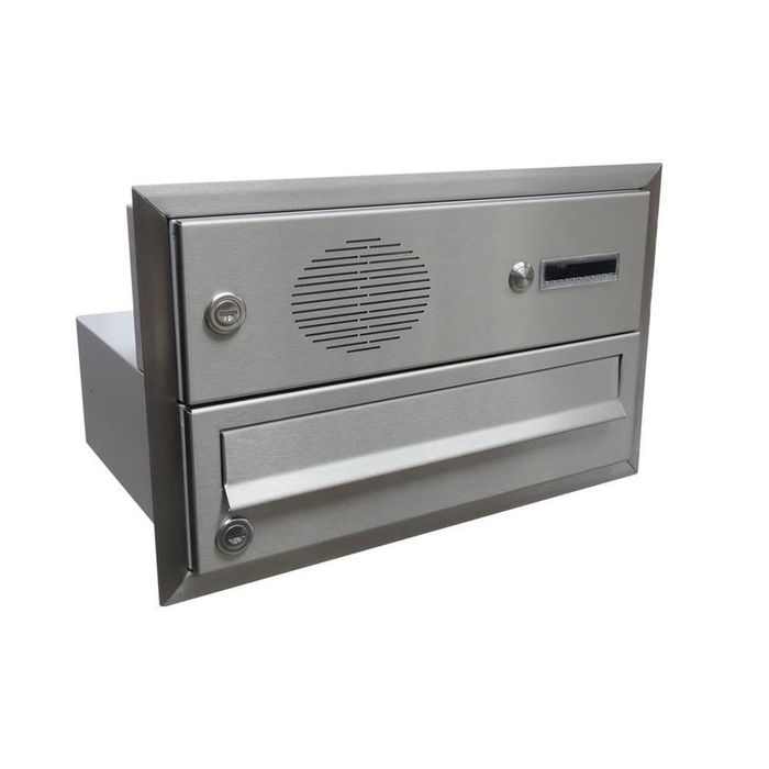 B-017 Stainless steel flush-mounted letterbox with bell