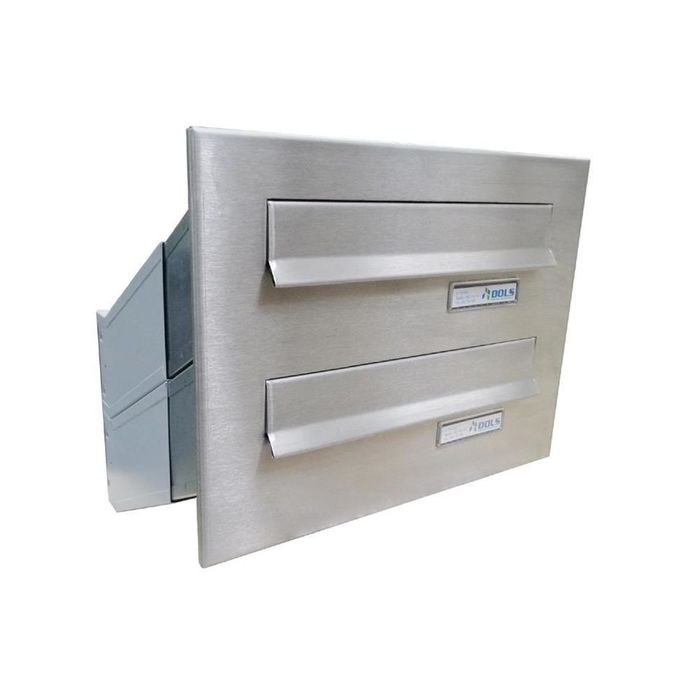 D-041 2-door stainless steel Through Wall letterbox system
