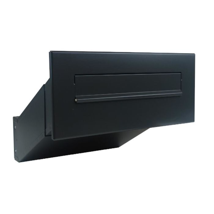 D-042 Anthracite (RAL 7016) through wall Letterbox (variable depth)