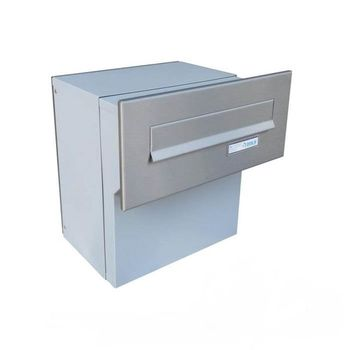 F-042 XXL Stainless Steel Through Wall Letterbox...
