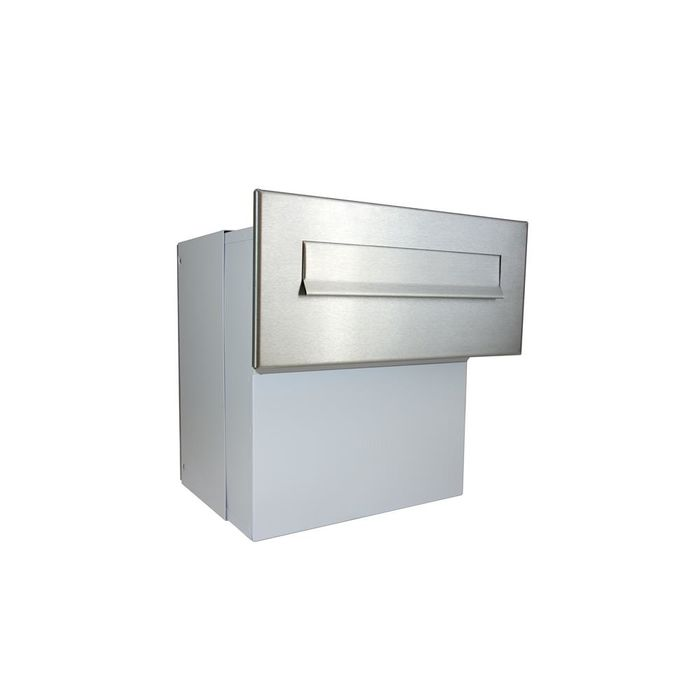 F-042 XXL Stainless Steel through wall Letterbox (Variable Depth)