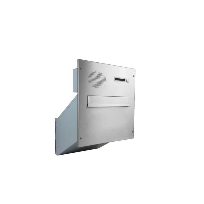 D-241 XXL Stainless steel Through Wall letterbox with intercom  (variable depth)