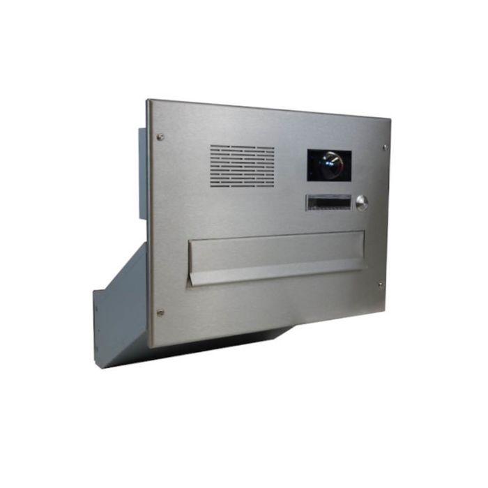 D-041 Stainless Steel through wall Letterbox System with Bells, intercom & Camera