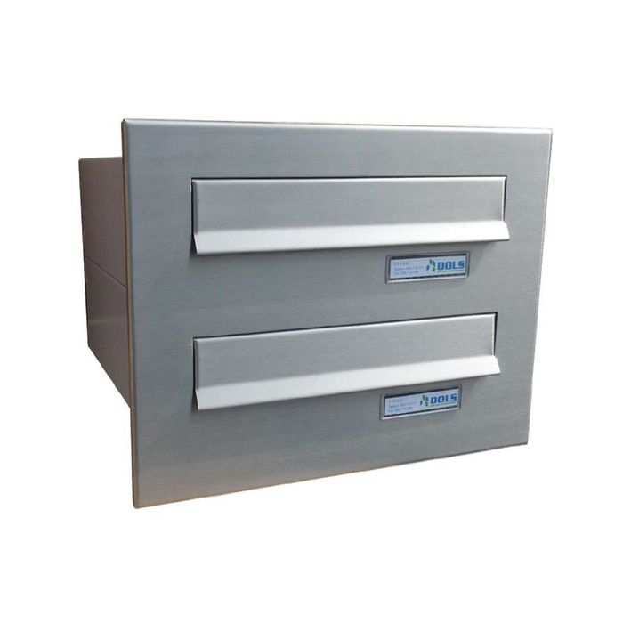B-04 2-door stainless steel Through Wall letterbox system