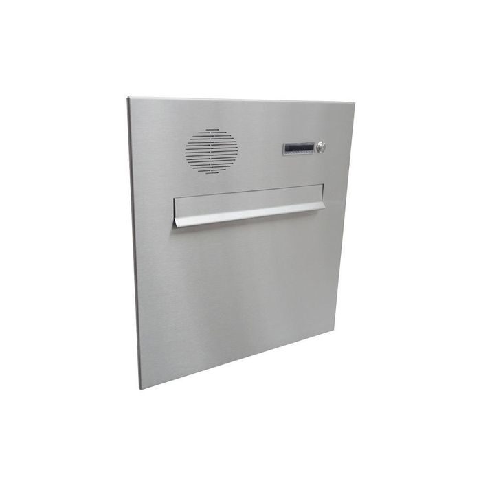 A-04 stainless steel design pass-through letterbox with bell & intercom