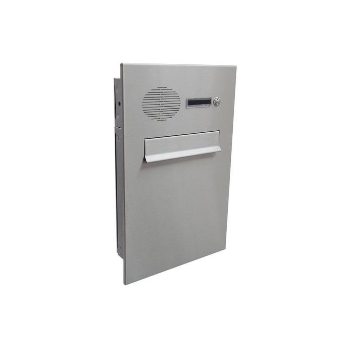 A-046 Stainless steel design pass-through letterbox with bell