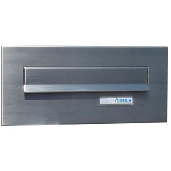 CD-1 Stainless steel letterbox front panel with name...