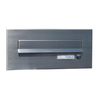 CD-2 Stainless steel letterbox front panel with bell...