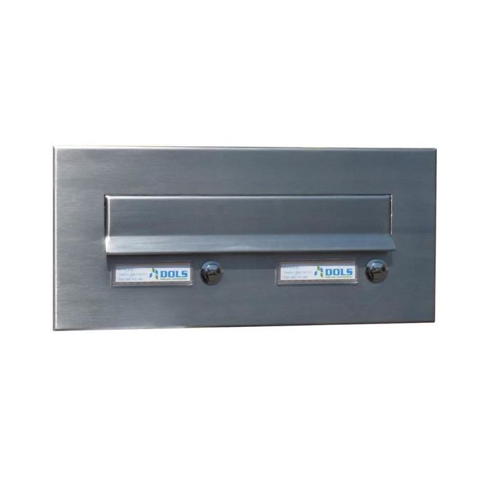 CD-3 Stainless steel letterbox front panel with 2 bells (160x350 mm)