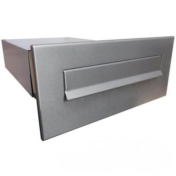 B-042 Stainless Steel Through Wall Letterbox (Variable...